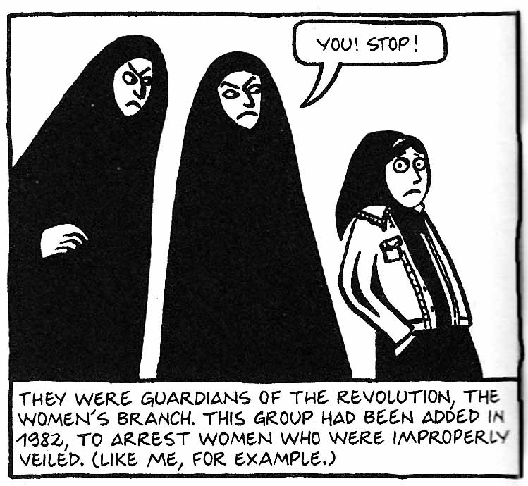 essay for persepolis Marjane satrapi's graphic novel persepolis is an autobiography that depicts her childhood up to her early adult years in iran during and after the islamic revolution.